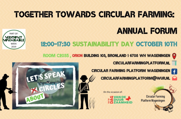 Report | Sustainability Day 2019-Together towards circular farming: Annual Forum